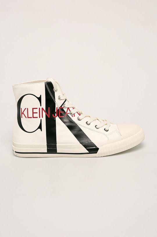 alb Calvin Klein Jeans - Tenisi De bărbați
