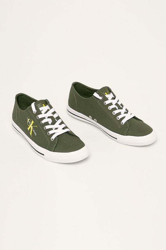 Calvin Klein Jeans - Tenisi verde murdar