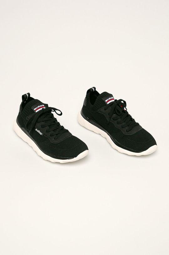s. Oliver - Pantofi negru