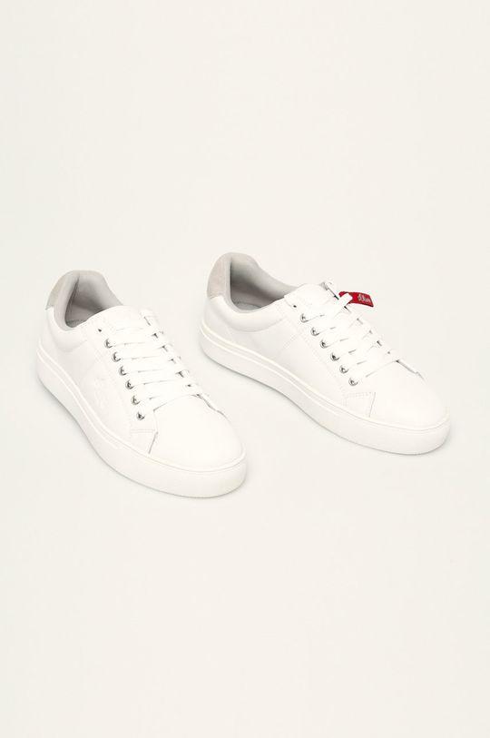 s. Oliver - Kožená obuv biela