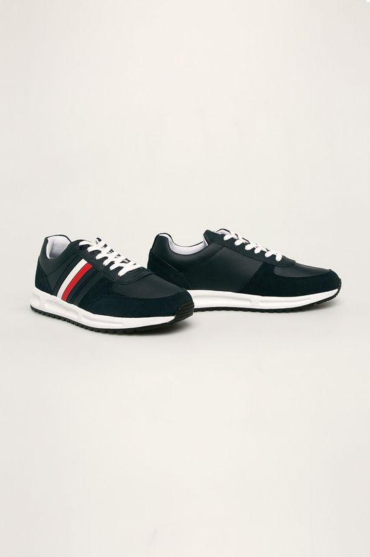 Tommy Hilfiger - Kožené boty námořnická modř