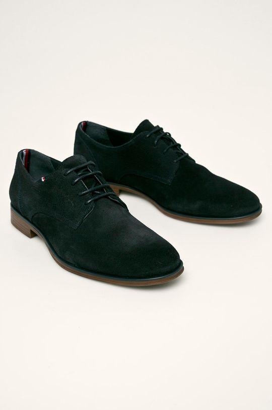 Tommy Hilfiger - Pantofi de piele bleumarin