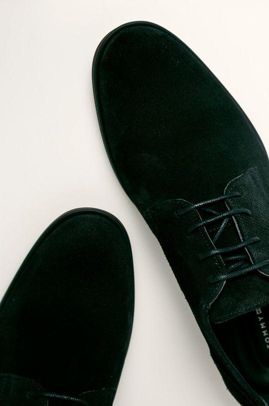bleumarin Tommy Hilfiger - Pantofi de piele