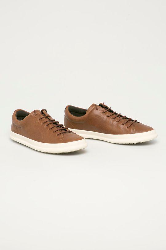 Camper - Kožená obuv Chasis Sport hnedá