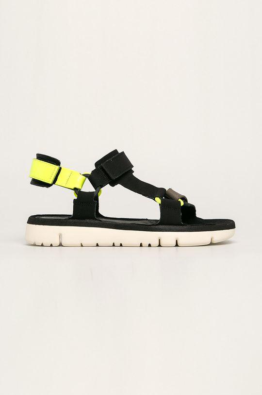 negru Camper - Sandale de piele Oruga De bărbați