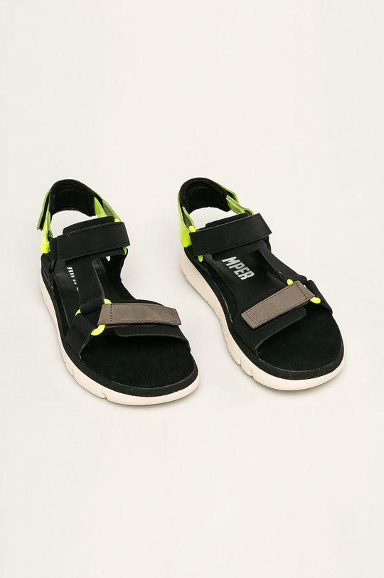 Camper - Sandale de piele Oruga negru