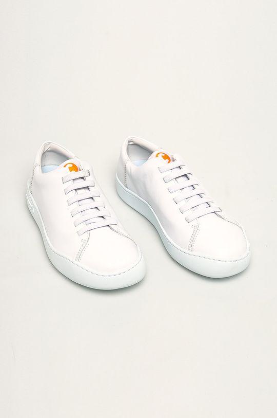 Camper - Kožené boty Peu Touring bílá