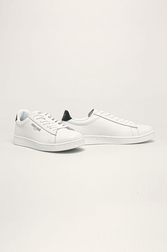 Roberto Cavalli Sport - Kožené boty bílá