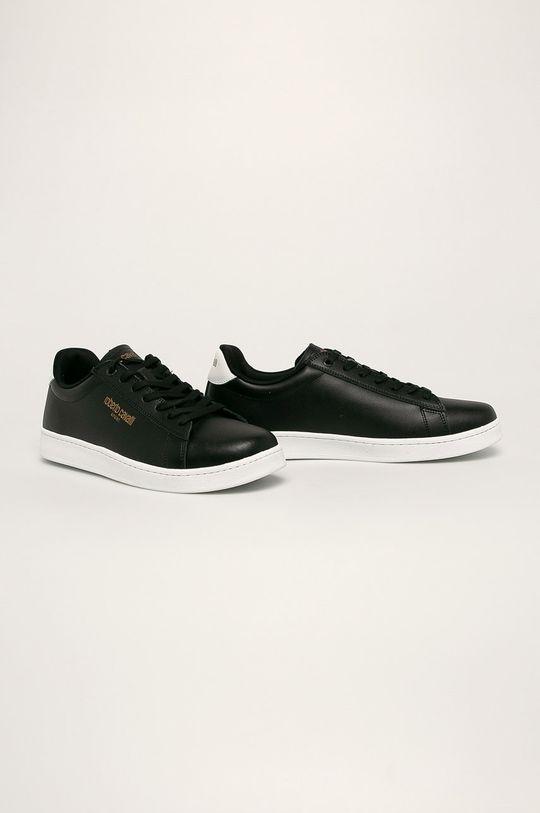Roberto Cavalli Sport - Kožené boty černá