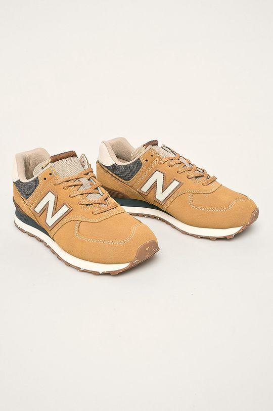 New Balance - Topánky ML574SOI horčicová