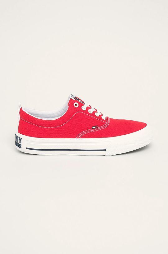 czerwony Tommy Jeans - Tenisówki Męski