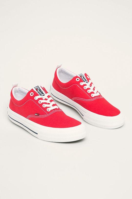 Tommy Jeans - Tenisówki czerwony