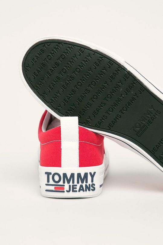 czerwony Tommy Jeans - Tenisówki