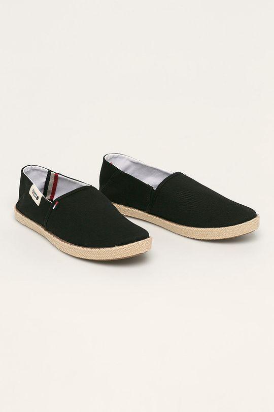 Tommy Jeans - Espadrile negru