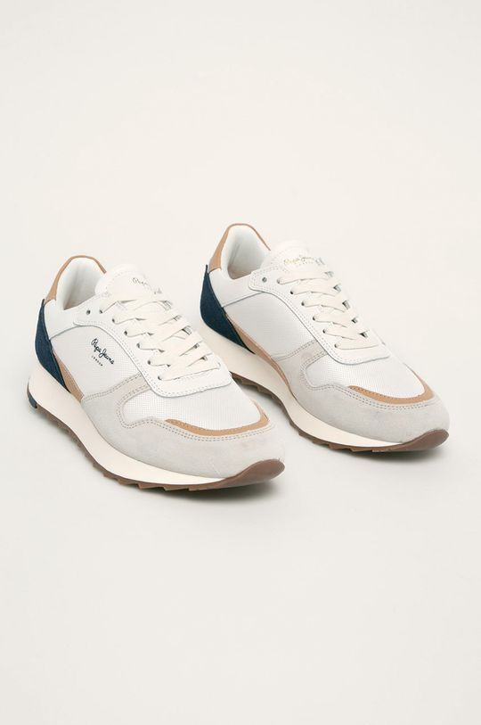 Pepe Jeans - Buty Slab Basic biały