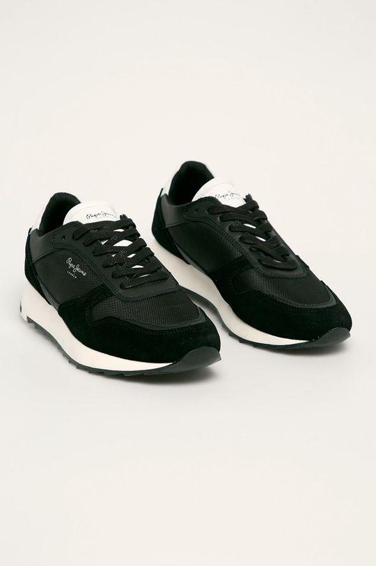Pepe Jeans - Pantofi Slab Basic negru