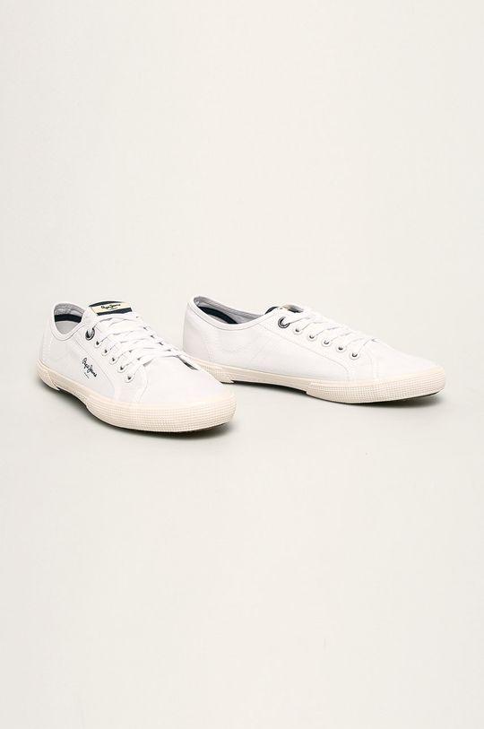 Pepe Jeans - Tenisówki Aberman Smart biały