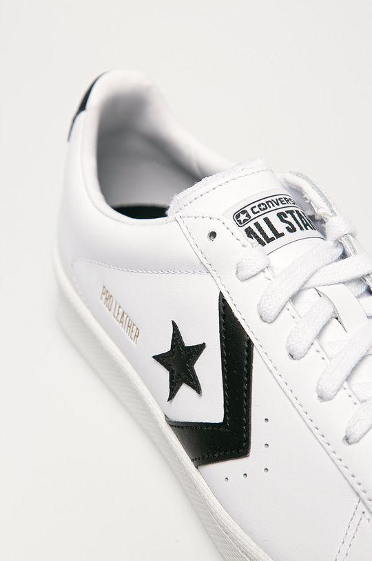 alb Converse - Ghete de piele