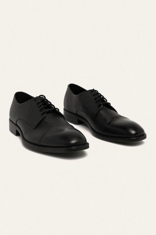 Calvin Klein - Kožené polobotky černá