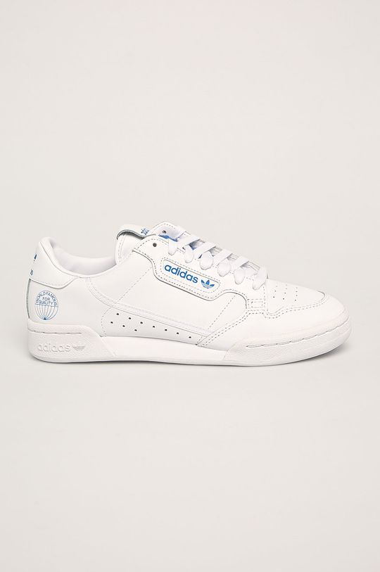biela adidas Originals - Kožená obuv Continental 80 Pánsky