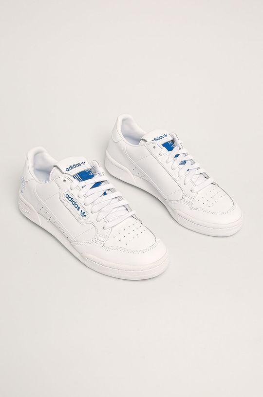 adidas Originals - Kožená obuv Continental 80 biela