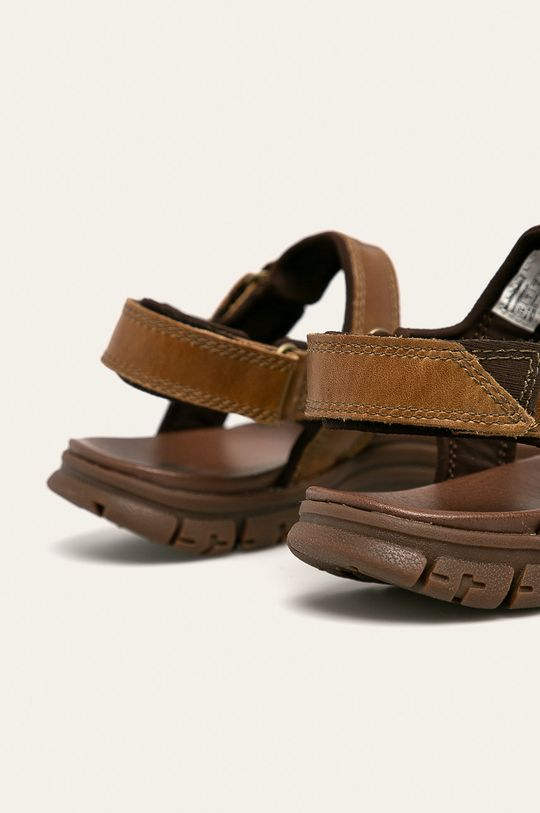 tmavě hnědá Caterpillar - Kožené sandály Brantley
