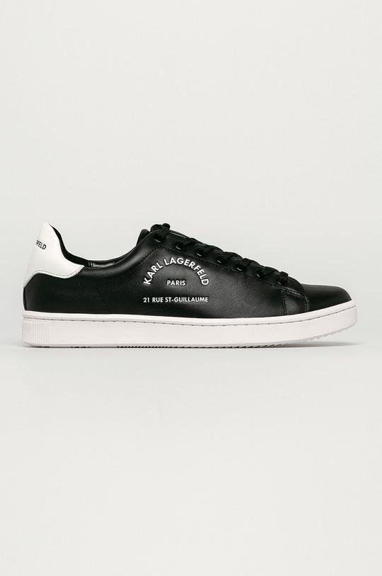 czarny Karl Lagerfeld - Buty skórzane Męski