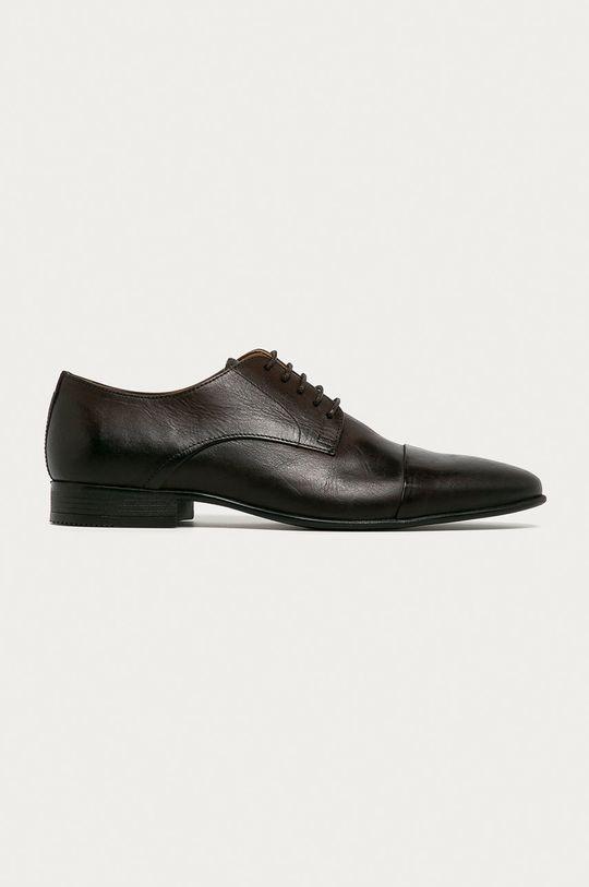 maro inchis Aldo - Pantofi de piele Ancede De bărbați