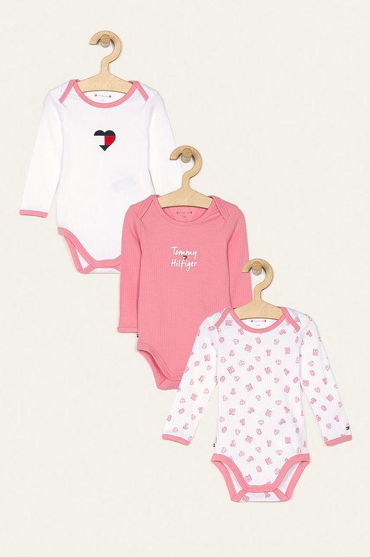 ružová Tommy Hilfiger - Body pre bábätká 56-80 cm (3 pak) Chlapčenský
