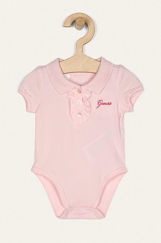 roz pastelat Guess Jeans - Body bebe 62-76 cm De fete