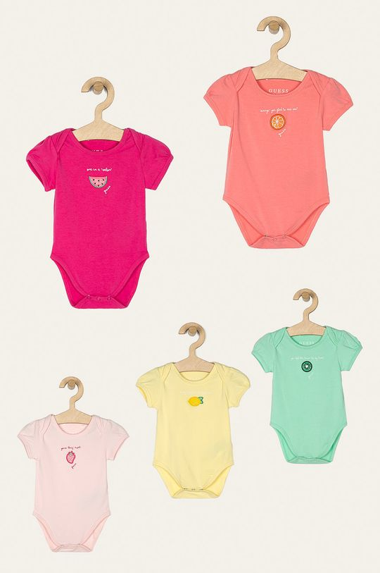 viacfarebná Guess Jeans - Body pre bábätká 55-76 cm (5-pak) Dievčenský
