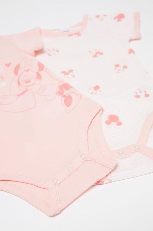 OVS - Body niemowlęce 50-68 cm (2-pack) różowy