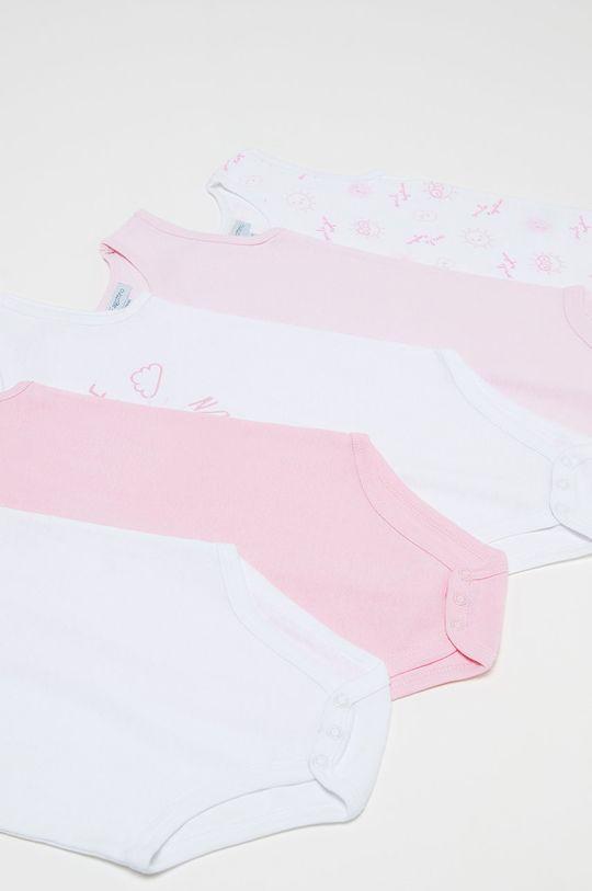 OVS - Body pre bábätká 62-92 cm (5-pak) ružová