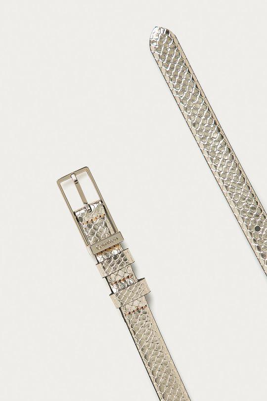 Calvin Klein - Kožený opasok strieborná
