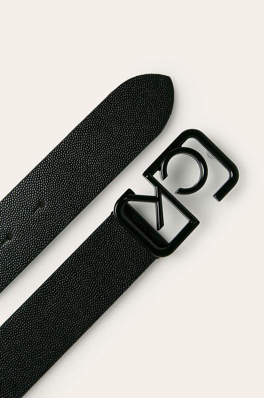 Calvin Klein - Kožený opasok čierna