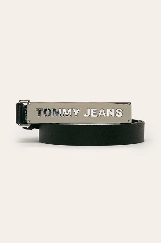 czarny Tommy Jeans - Pasek skórzany Damski