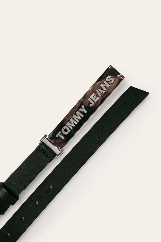 Tommy Jeans - Pasek skórzany czarny