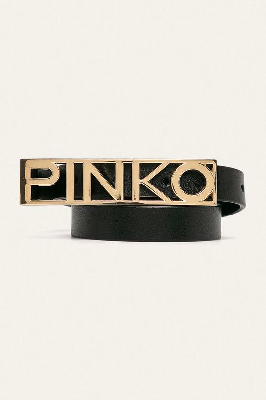 černá Pinko - Kožený pásek Dámský