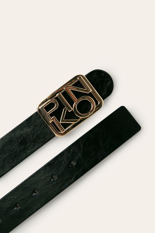 Pinko - Kožený opasok čierna