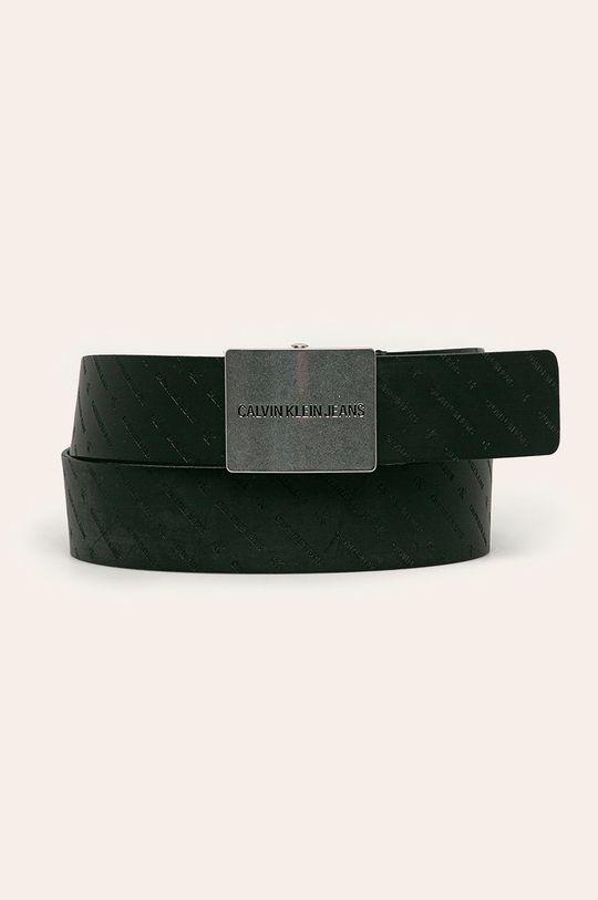 černá Calvin Klein Jeans - Kožený pásek Pánský