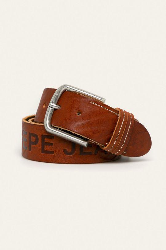 maro Pepe Jeans - Curea de piele Mathew De bărbați