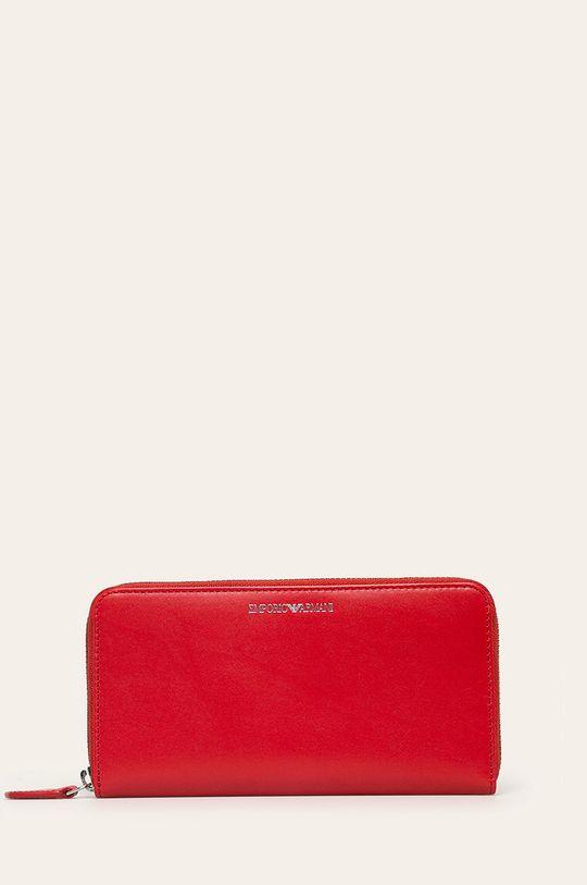červená Emporio Armani - Kožená peňaženka Dámsky