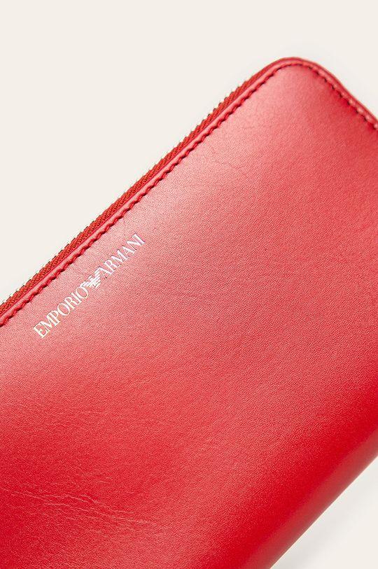Emporio Armani - Kožená peňaženka červená