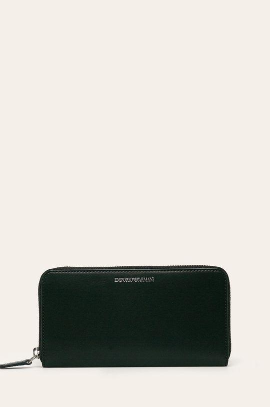 čierna Emporio Armani - Kožená peňaženka Dámsky