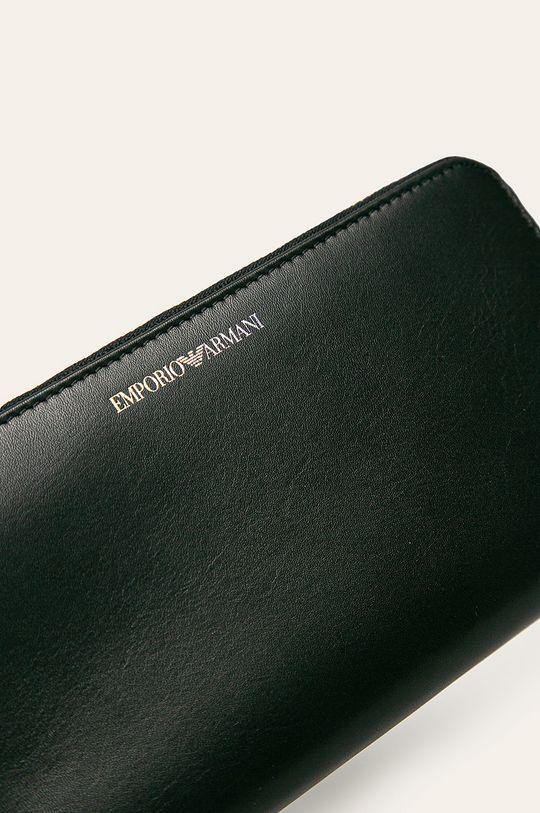 Emporio Armani - Kožená peňaženka čierna