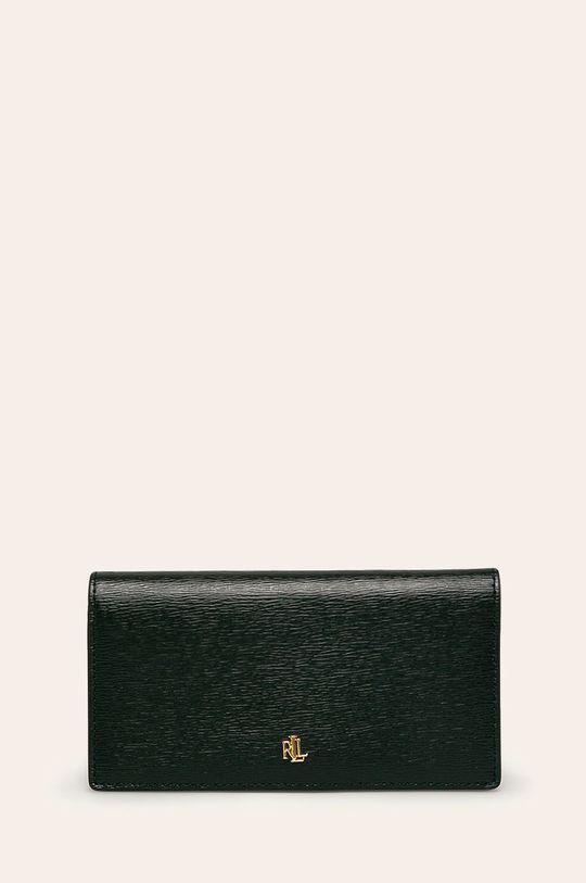 čierna Lauren Ralph Lauren - Kožená peňaženka Dámsky