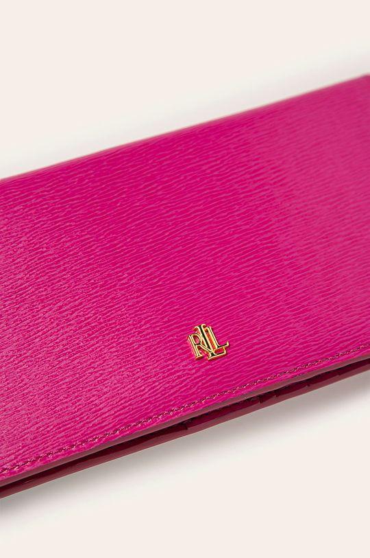 Lauren Ralph Lauren - Kožená peňaženka ružová