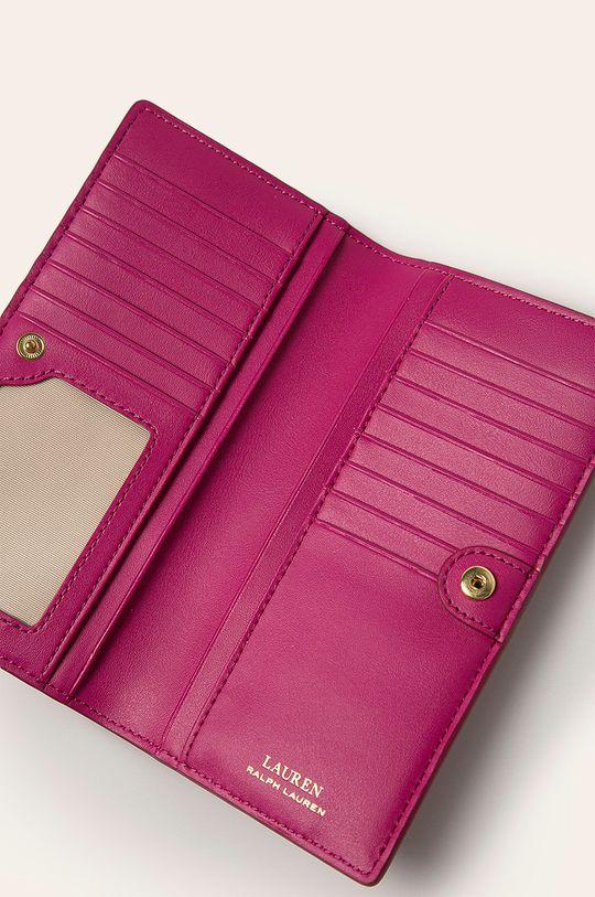 ružová Lauren Ralph Lauren - Kožená peňaženka