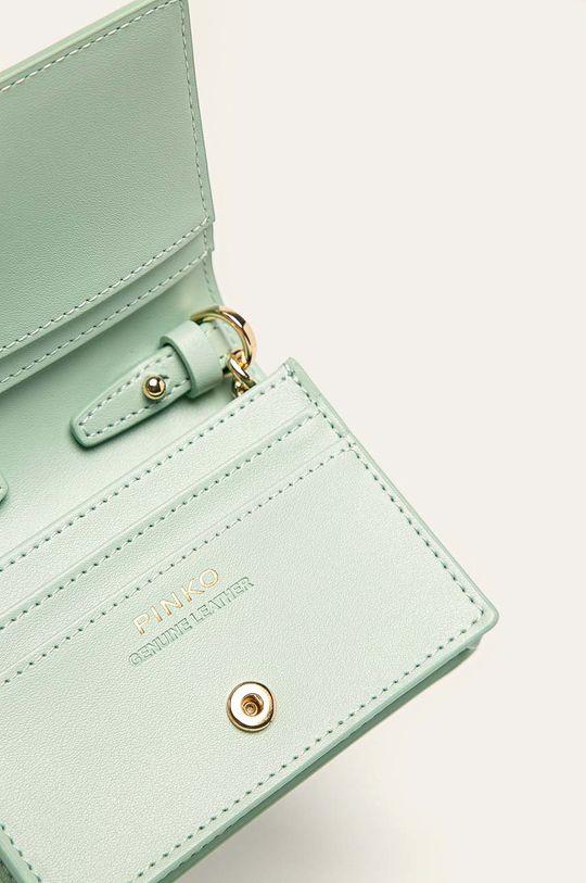 Pinko - Kožená peněženka tyrkysová
