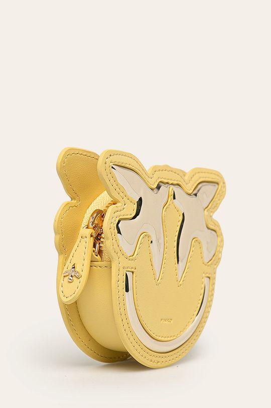 Pinko - Kožená peňaženka zlatá